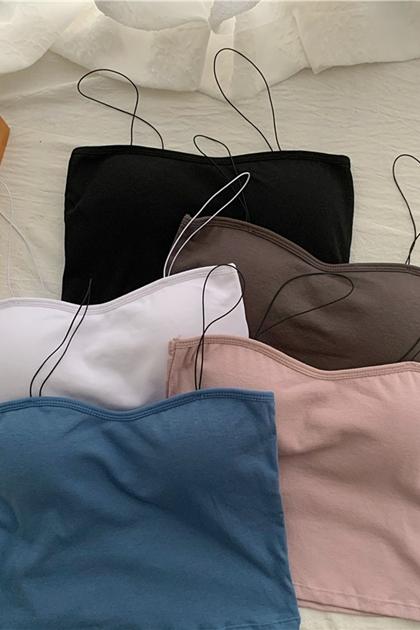 性感平口胸墊背心內衣*5色