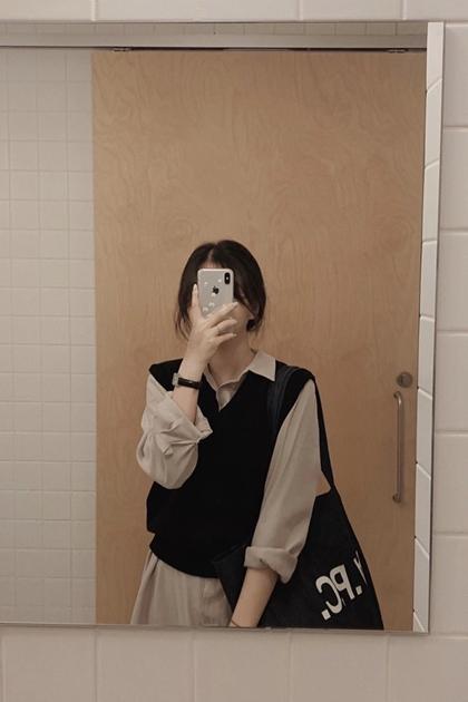 純色簡單針織背心*3色