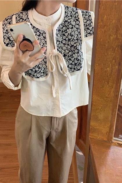 簡約立領開釦襯衫*2色