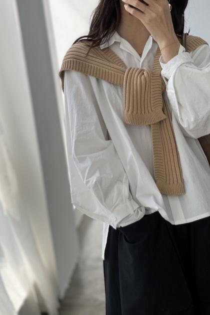 設計師款袖子設計扣襯衫