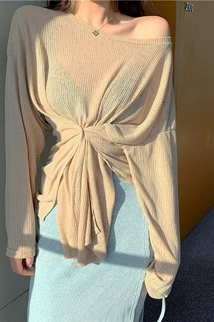 造型慵懶垂墜針織衫*3色
