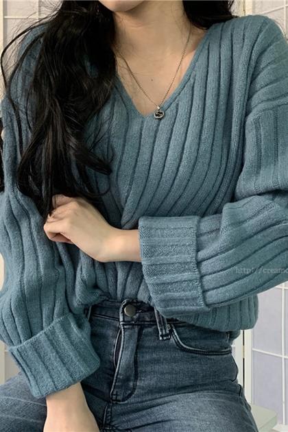 顯瘦V領針織衫毛衣*4色