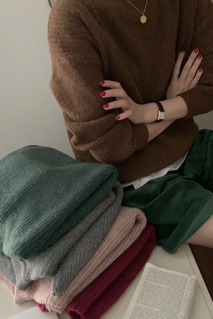 色系超美保暖純色針織毛衣*5色