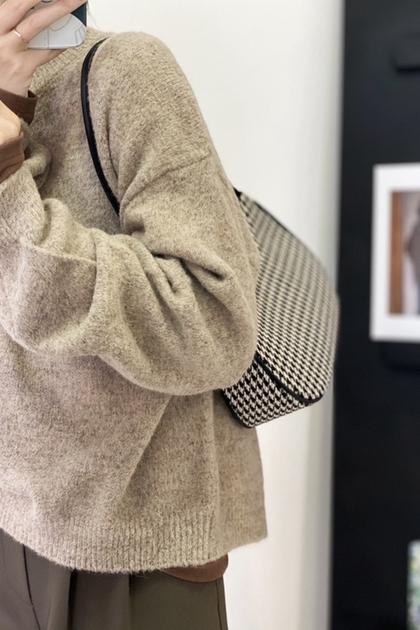 慵懶風軟糯針織毛衣*4色