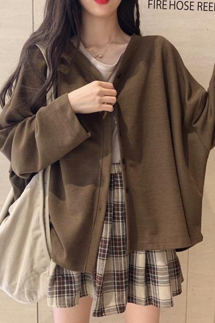 慵懶垂墜外套罩衫*3色