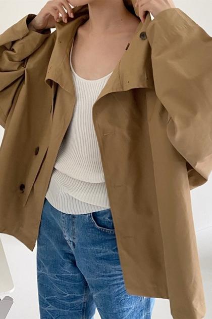 帥氣立領風衣夾克外套*2色