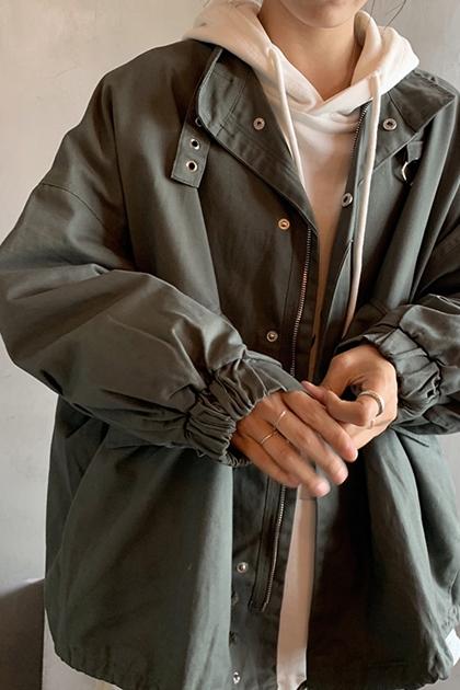 帥氣休閒立領夾克外套*2色