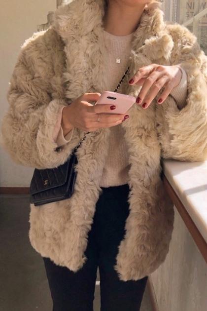 復古加厚毛毛外套