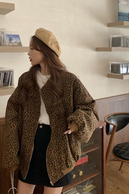 造型豹紋豹紋外套
