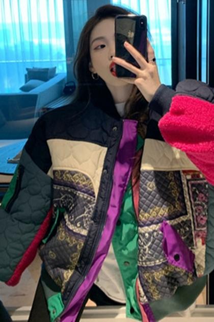 造型拼布創意鋪棉外套