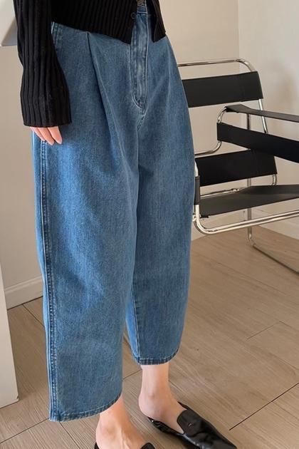 W顯瘦高腰打折老爺牛仔褲*S-XL