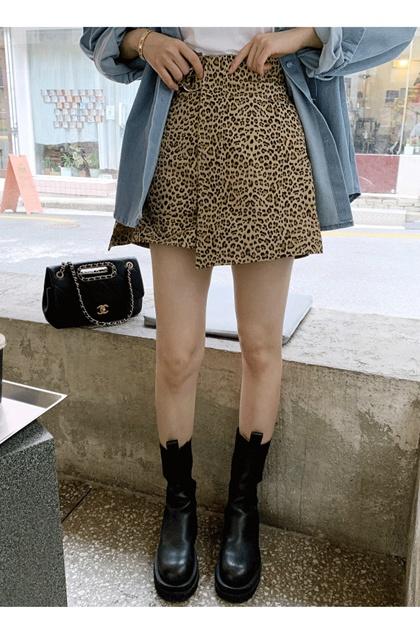 造型豹紋褲裙*2色