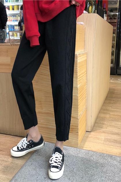 麻花鉤織針織褲*3色