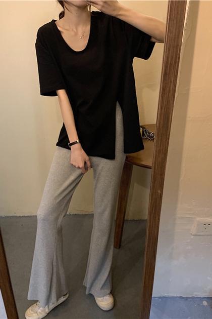 顯瘦垂感棉料喇叭褲*3色
