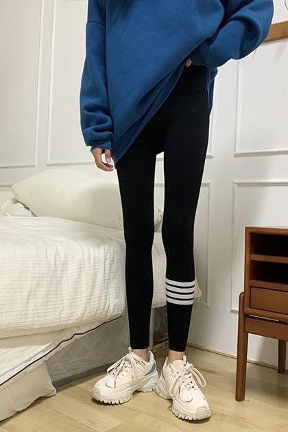 條紋配色內搭褲*3色