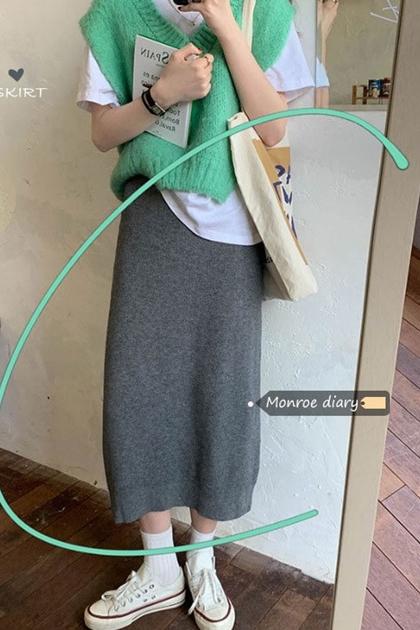 好搭配針織長裙*3色