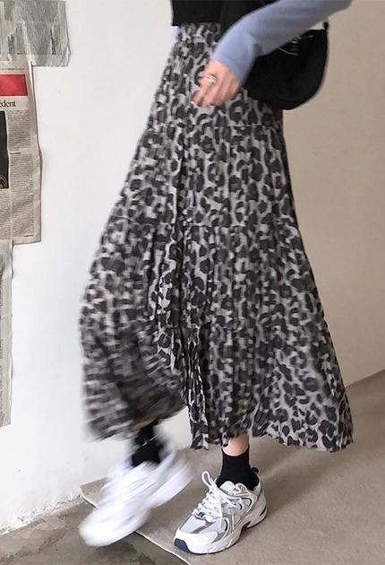 顯瘦垂墜感豹紋裙*2色