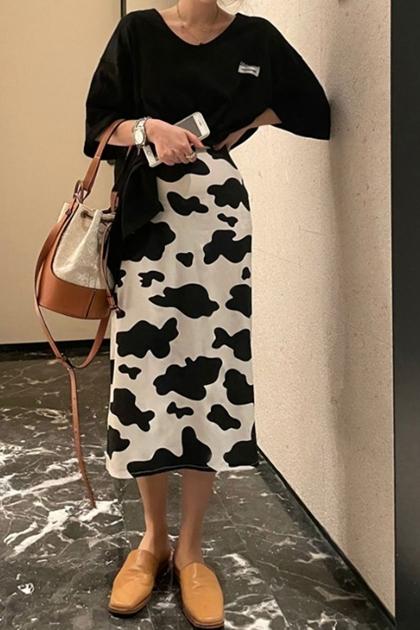 不規則斑點窄裙*ML