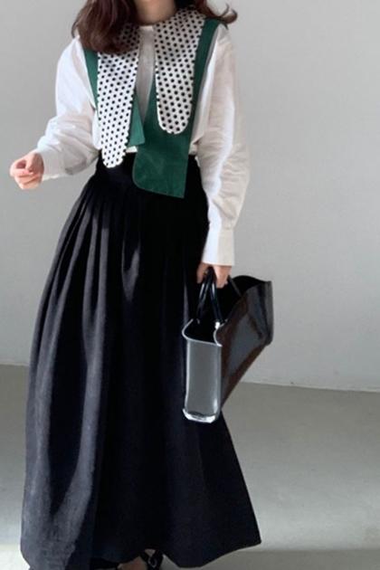高腰顯瘦長裙*黑SM