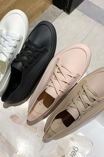 雨天也要時尚防滑防水低統帆布鞋雨鞋*4色36-40