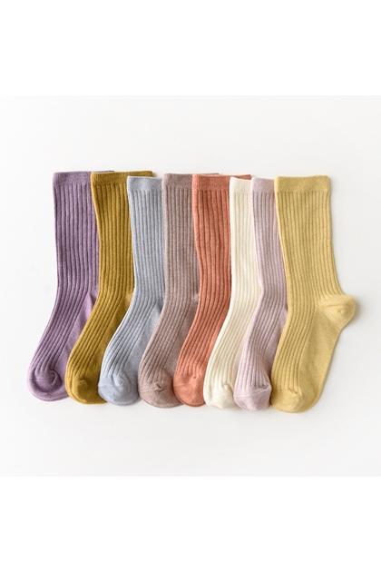 好搭配粉嫩系素面中筒襪*9色