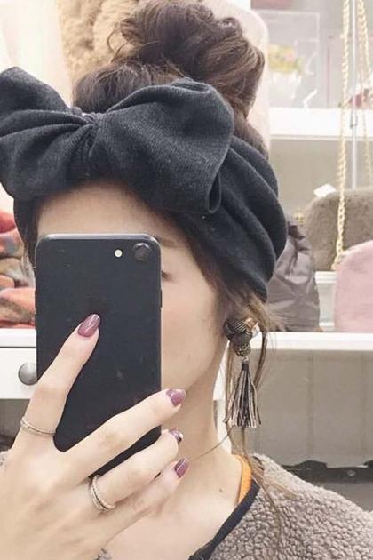 彈性大蝴蝶結造型髮箍髮帶頭巾*8色