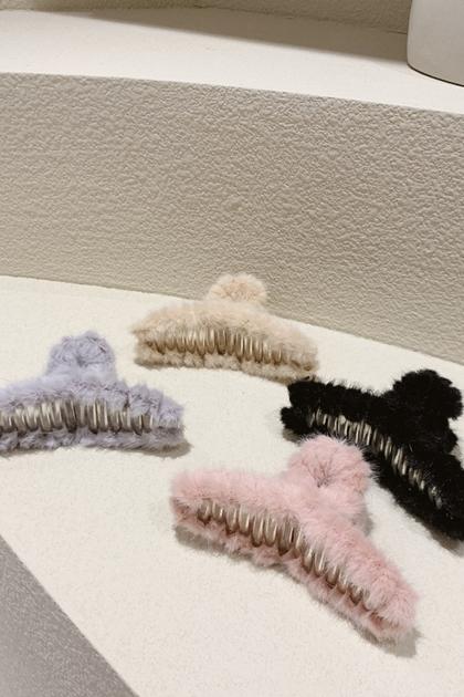 韓國毛茸茸髮飾髮夾鯊魚夾*4色