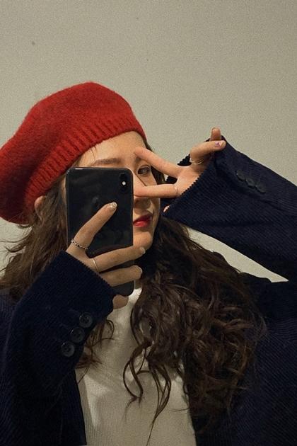 超火復古針織英倫貝雷帽*5色