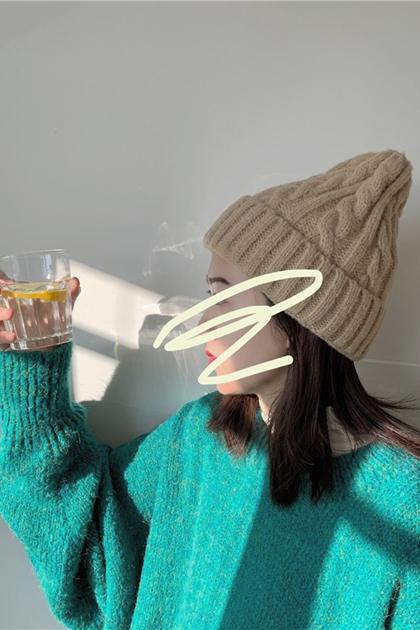 百搭保暖麻花加厚毛線帽*8色