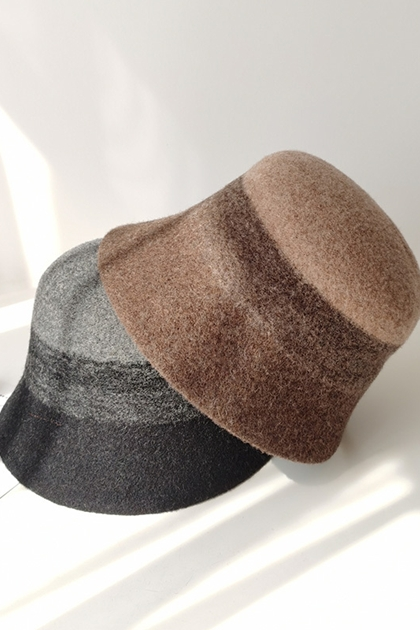 法式漸層毛呢漁夫帽*3色
