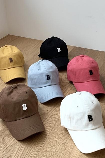 正韓韓國製*立體字母B防曬鴨舌帽棒球帽*6色