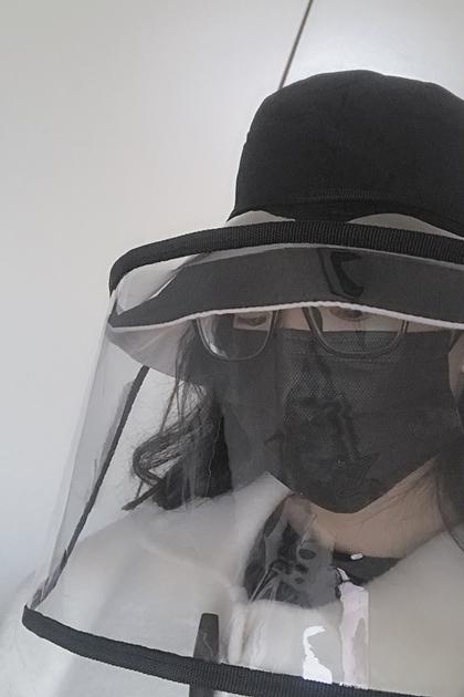 防疫大家一起來透明防護可拆漁夫帽棒球帽