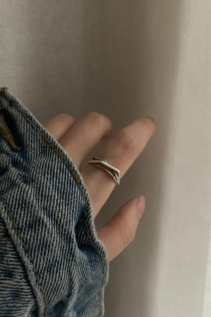 韓國S925純銀3層環繞戒指