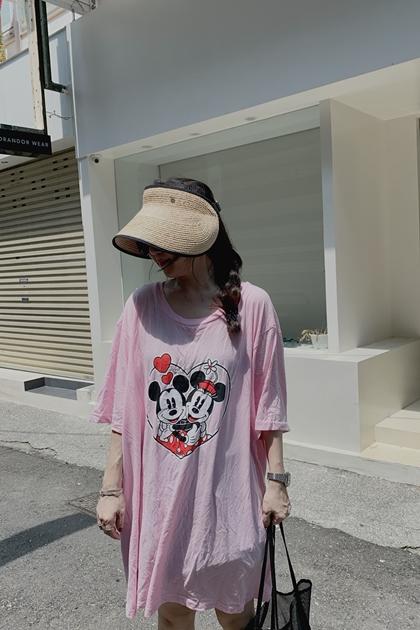 米奇米妮愛心泡泡棉T洋裝~超低下殺.限量發售