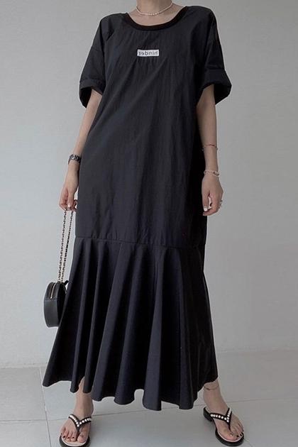 美背露背魚尾裙襬洋裝*4色