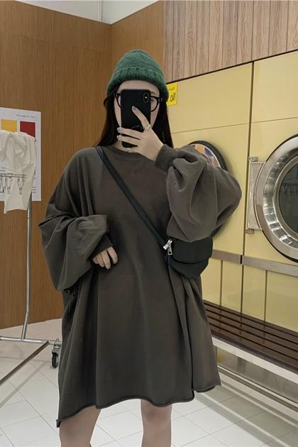 不修邊澎澎袖衛衣洋裝*3色
