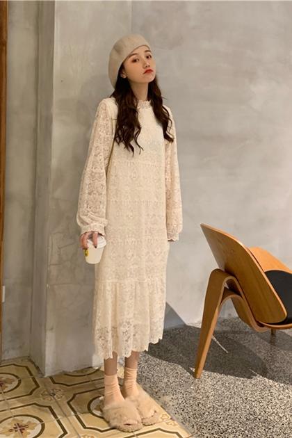 溫柔小姐姐蕾絲洋裝