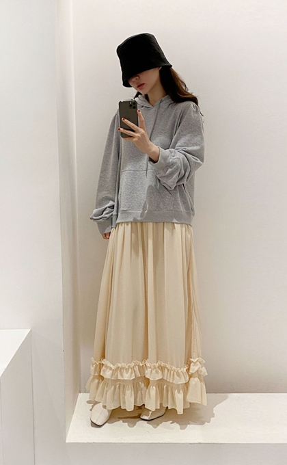 洋氣衛衣連帽拼接荷葉裙襬超仙洋裝*3色