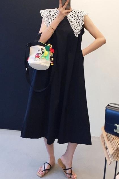 雕花蕾絲海軍領洋裝洋裝*2色