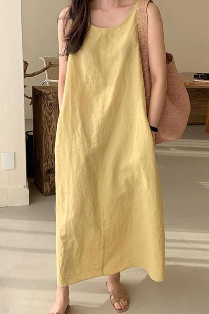 純色背心洋裝*3色