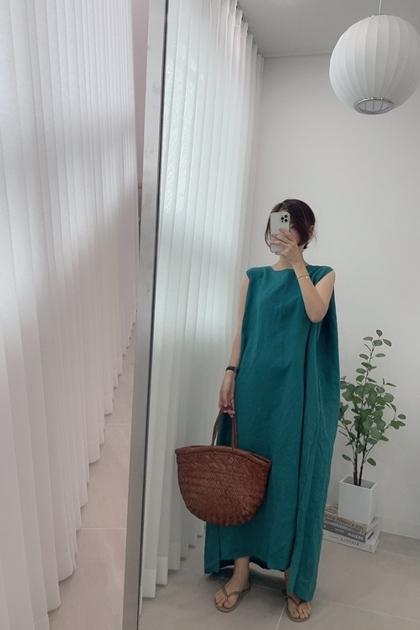 純色寬鬆背心洋裝*4色
